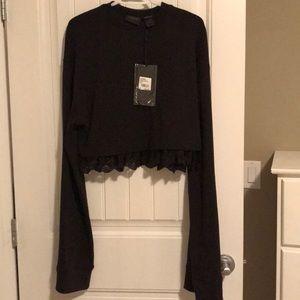Black Puma sweatshirt sz L